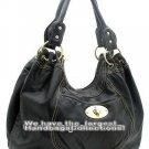 Black Washed Fashion Lk Buckle Shoulder  Handbag Purse
