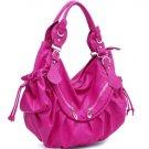 Pink Celebrity Designer slouchy Studded handbag bag
