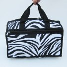 BLACK ZEBRA DUFFLE GYM BAG SPORTS CARRY ON OVERNIGHT