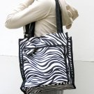 2 Pcs Set Zebra Print travel Carry-on Duffle Bag Tote