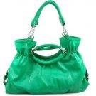 Green Woven Inspired Designer Braided handles handbag
