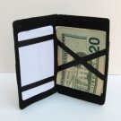 BLACK LEATHER MAGIC WALLET Pocket Card Safely Holder