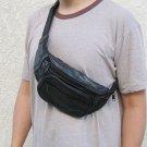 Black Leather Fanny Pack Phone Waist Hip Bag Travel #15