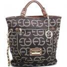Designer Style Women's Large Tote Bag Croco Handbag Inspired Coffee/Coffee