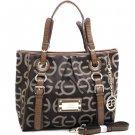 Designer Style Women's  Shoulder Tote Bag Croco Handbag Inspired Coffee/Coffee