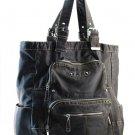 Blue Teal Cyan   Washed Inspired Designer Urban Big School Handbag Tote