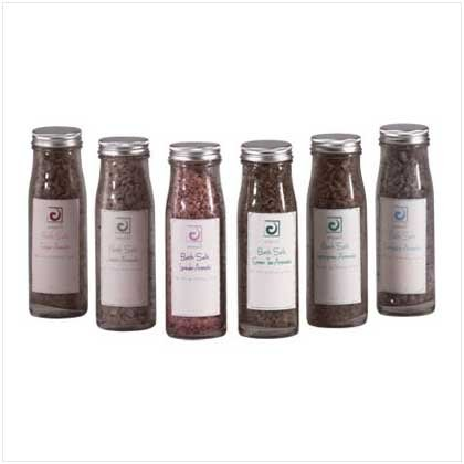Bath Sea Salt In A Glass Bottle - 6 Pc
