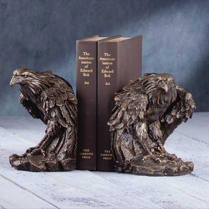 EAGLE BRONZE BOOKENDS