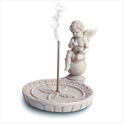 Round Cherub Incense Holder