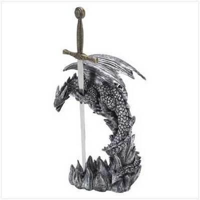 Sword Letter Opener & Dragon Display