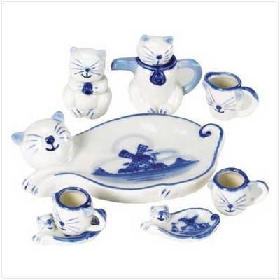 Mini Cat Tea Set - Set of 10
