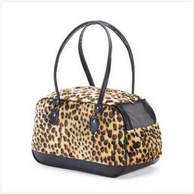 Leopard Print Pet carrier