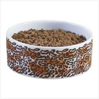Leopard Print Ceramic Feeding Bowl