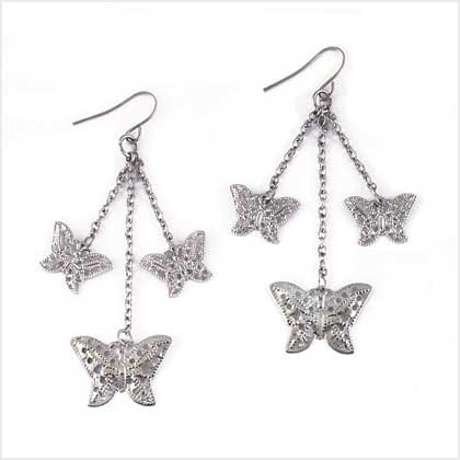 Lacework Butterfly Earrings