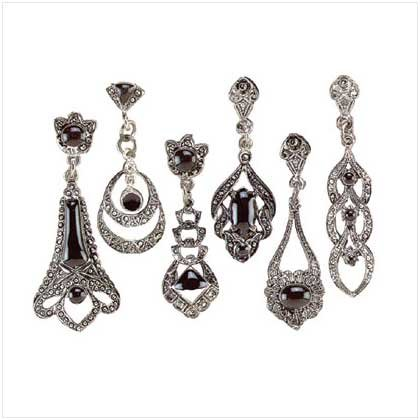 Classic Oynx Earrings - Set of 12 pair