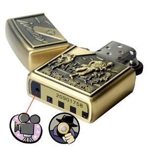 8GB Bronze Lighter Spy Camera w/ Hidden 640 x 480 20 Fps DVR Cam,SPY LIGHTER CAMERA