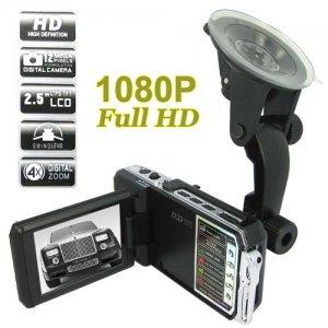 1920 x 1080P HD Video Recorder + 2.5 Inch LCD Screen 5.0MP Car DVR