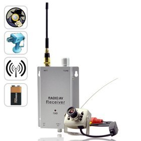 Wireless Spy Camera Transmitter with Receiver Set