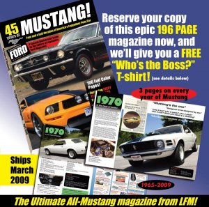 Legendary Mustang Magazine - Free Large T-shirt -US only - Subscriber of LFM