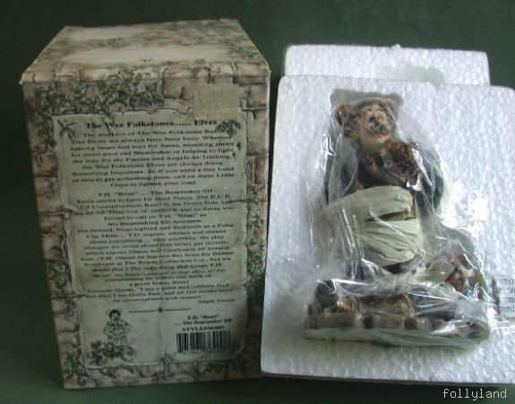 Retired Boyds Bearstone T.H. Bean Bearmaker Elf 3E NIB