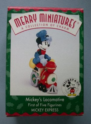 1998 Hallmark Ornament Mickey's Locomotive Express Disney