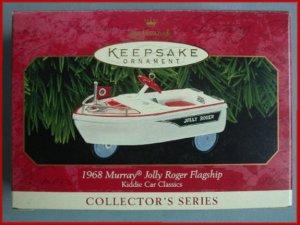 1999 Hallmark Ornament Kiddie Car Jolly Roger Flagship