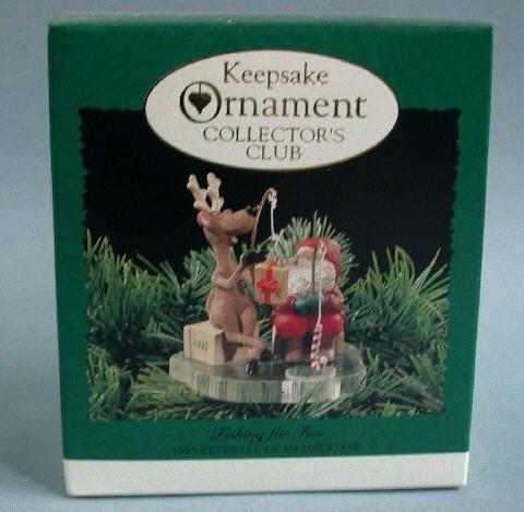 1995 Hallmark Fishing for Fun Keepsake Club Ornament OB