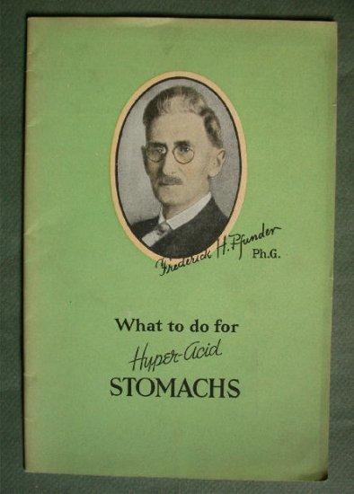 1934 Hyper Acid Stomachs Booklet Ad Pfunder Tablets