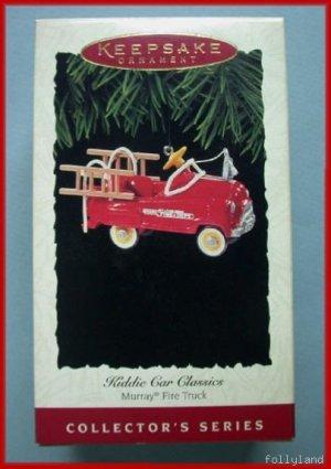 1995 Hallmark Ornament Kiddie Car Murray Fire Truck 2nd