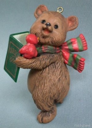 1980 Hallmark Ornament Caroling Bear Songbook Carols