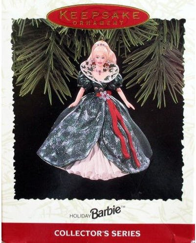 1995 Hallmark Ornament Holiday Barbie 3rd Series