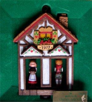 Hallmark 1977 Twirl-about Weather House Ornament