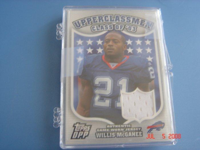 willis mcgahee 2006 topps dpp upperclassmen jersey