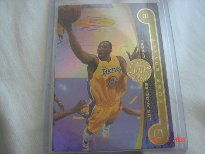 kobe bryant 2005-06 topps first row #ed to 100