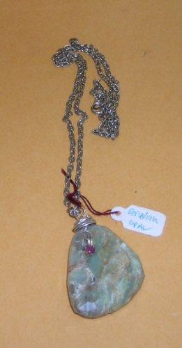 Peruvian Opal Pendant Necklace