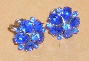 Vintage Coro Blue Earrings