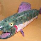 Outsider Art Carved Fish Signed Jim Lewis