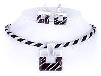 Zebra Print Choker Set