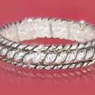 Silver Hammered Designer Look Bangle