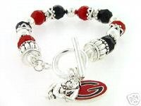 Georgia Bulldog Toggle Charm Bracelet