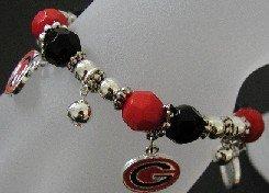 Georgia Bulldog Charm Bracelet