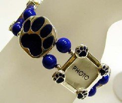 Blue Paw/Photo charm bracelet