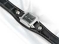 Black Alligator Style Watch