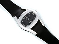 Black Geneva Brand Strap Watch
