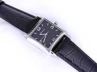 Black Alligator Geneva Brand Watch