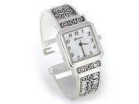Silver Brighton Designer Look Cuff Watch