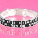 Black/Silver Teacher Bracelet