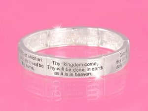 Silver Lord's Prayer Bracelet