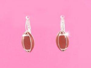Brown Football Earrings