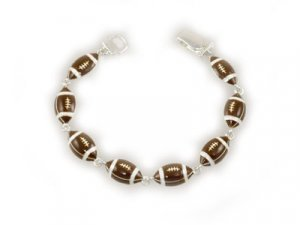Brown Football Magnetic Bracelet